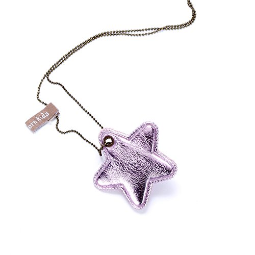 (Peppercorn Kids Girls Twinkle Star Necklace - Metallic Pink)