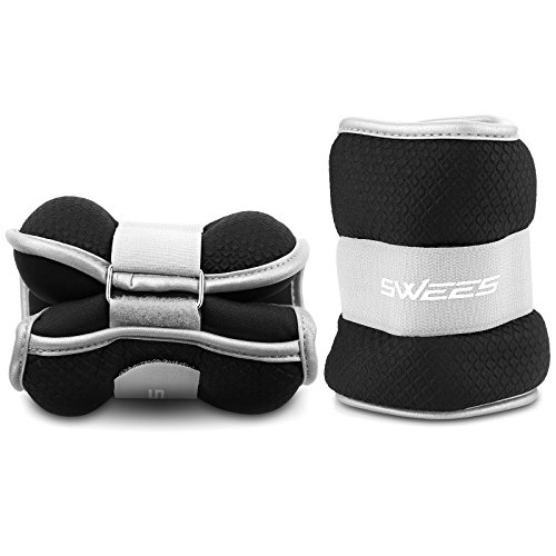Ankle Weights (1 Pair), Swees Ankle / Wrist Weights Pair Set with Adjustable Strap for Arm, Hand & Leg 1 lb, 2 lbs, 3 lbs, 5 lbs for Women, Men or Children Best for Fitness, Exercise, Walking, Gym