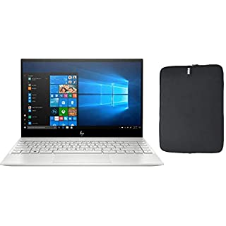 "2020 HP Envy 13.3"" 4K UHD IPS Touchscreen Premium Laptop, Intel Quad-Core i7-1065G7, 8GB RAM, 512GB SSD, Backlit Keyboard, Fingerprint Reader, Windows 10, w/ WOOV Accessory Bundle"