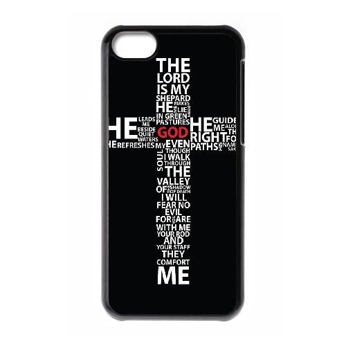 Croix Typographie EO70QR3 coque iPhone Téléphone cellulaire 5c cas coque Q8UE8X7GR