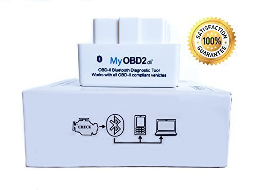 MyOBD2-All OBD2 Bluetooth Scanner Diagnostic Adapter for Android. Full 1 Year Warranty. Ultra Small. Compatible with All OBDII Protocols