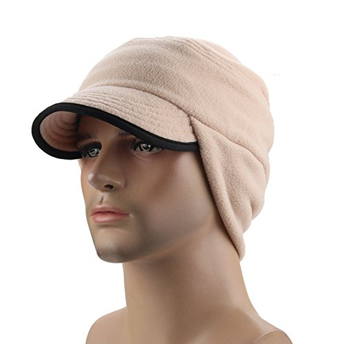 GITVIENAR Winter Polyester Driver Hat with Fold-Down Ear Flaps Warm Windproof Skull ()