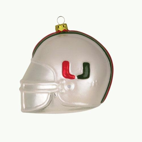 Miami Hurricanes Team Glass Helmet (Hurricanes Team Helmet)
