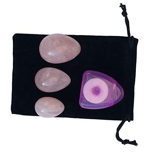 Hense 1 - Juego de 3 huevos de jade perforados para ejercicios de Kegel, ejercitador de músculos vaginales, cuarzo de cristal rosa: Amazon.es: Deportes y ...