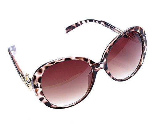 SUNRUN New Women's Designer Fashion Baroque Swirl Ornament Black Frame Sunglasses HB070 - Sunglasses Swirl Baroque