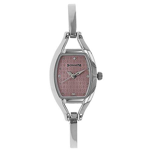 Sonata Analog Pink Dial Women's Watch - 8114SM01 ()
