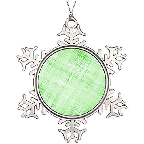 (Diuangfoong Personalised Christmas Tree Decoration Scratched Distressed Parchment Paper Faded Green Star Snowflake Ornaments Digital Texture Patterns)