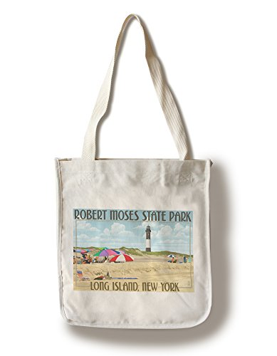Lantern Press Robert Moses State Park, Long Island, New York (100% Cotton Tote Bag - Reusable)