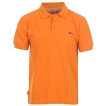 e76177857 Slazenger Kids Childrens Plain Polo Shirt Tee Top Junior Short Sleeve  Kidswear: Amazon.co.uk: Clothing