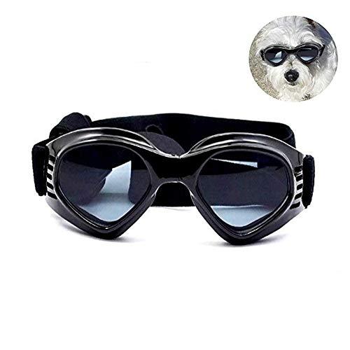 RALMALL Hunde Sonnenbrille Verstellbarer Riemen für UV-Sonnenbrillen Wasserdichter Schutz für Kleine und mittlere Hunde (Sonnenbrille Vor)