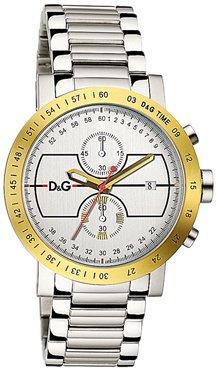 Dolce & Gabbana D&G Dolce&Gabbana - Reloj analógico de Cuarzo para Hombre con Correa de Acero