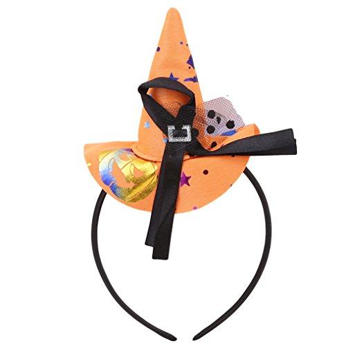 Edtoy Christmas Halloween Decoration Hat Hair Hoop Headband, Cosplay Costume Makeup Birthday Party Headdress (Orange) ()