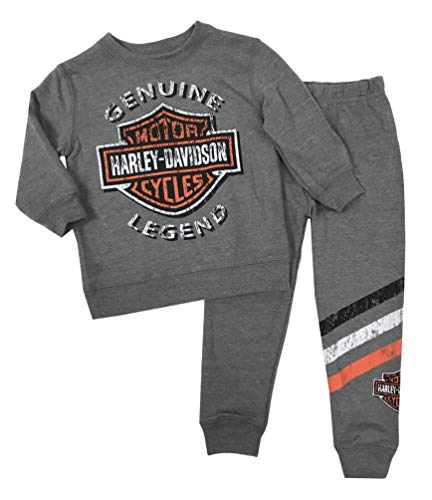 Harley-Davidson Baby Boys' 2-Piece French Terry Jogger Set, Gray 2050896 (6/9)
