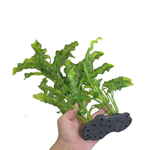 CNZ-Aquarium-Decor-Fish-Tank-Decoration-Ornament-Artificial-Plastic-Plant-Green-16-inch-Java-Fern