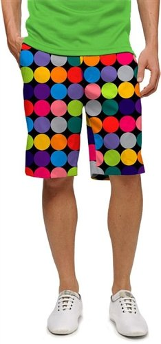 Loudmouth Golf Shorts Disco Balls Black 38 Loud Mouth by Loudmouth Golf (Image #1)