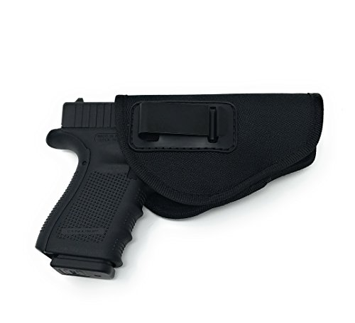 Nylon Gun Holster 4 Positions Inside & Outside by Houston | Fits: Compact Guns like Glock 26/27/33, Shield, XDS, Taurus 709, Taurus Pro C, Walther P22, Beretta Nano, H&K compac (Medium)