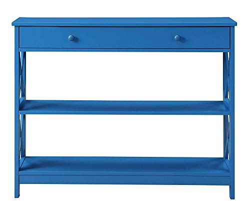 Blue Console - Convenience Concepts 203295BE Oxford Console Table, Blue