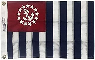 product image for 12x18 US Power Squadron Boat Flag Embroidery - Nautical Marine Grade Fully Stitched & Embroidered, Durable All-Weather Nylon with Grommets for Outdoors, Made in USA