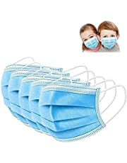 SWIVS LOCKER Kids Face Mask, 50 Pack Disposable Face Masks for Boys and Girls, 3-ply With Elastic ear loops, Highly Breathable, Fluid Resistant