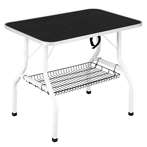 Yaheetech Pet Dog/Cat Grooming Table Foldable Height Adjustable - 36'' Drying Table w/Arm/Noose/Mesh Tray Maximum Capacity Up to 220lbs Black by Yaheetech (Image #2)