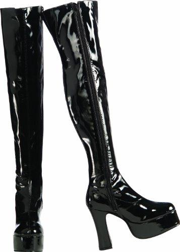 Secret Wishes Chunky Thigh-High Platform Boots, Black, Medium]()
