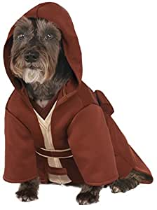 Rubies Costume Company Star Wars Classic Jedi Robe Pet Costume, Small