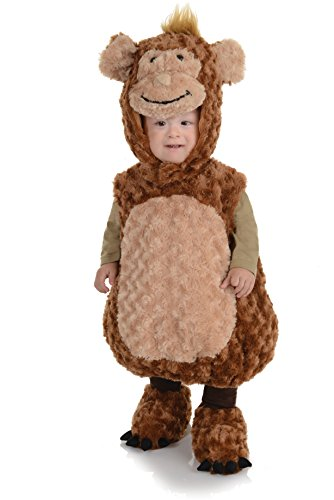 [Underwraps Baby's Monkey Belly-Babies, Brown/Tan, Medium] (Aladdin Costume For Boy)