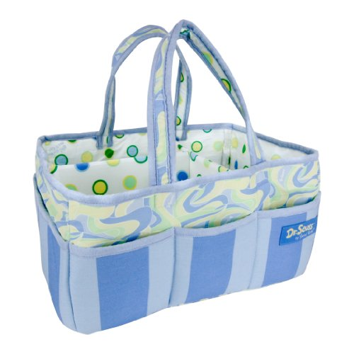 Trend Lab Dr. Seuss Storage Caddy, Oh, the Places You'll Go! Blue Scrapbooking Caddy Tote