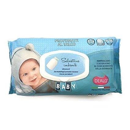 Dealo bebé toallitas empapado talco contiene 64 pequeño