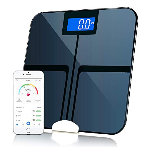 Bluetooth Body Weight Scale Smart Digital Bathroom Fat Composition Analyzer with iOS iPhone 8/iPhone X(10) and Andorid APP ()