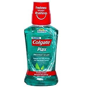 Colgate Plax Antibacterial Mouthwash, 10X longer cooling, 24/7 Fresh Breath, Removes 99% Germs – 2 x 250ml (Fresh Mint)