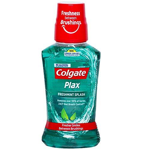 Colgate Plax Antibacterial Mouthwash, 10X longer cooling, 24/7 Fresh Breath, Removes 99% Germs – 250 ml (Fresh Mint)