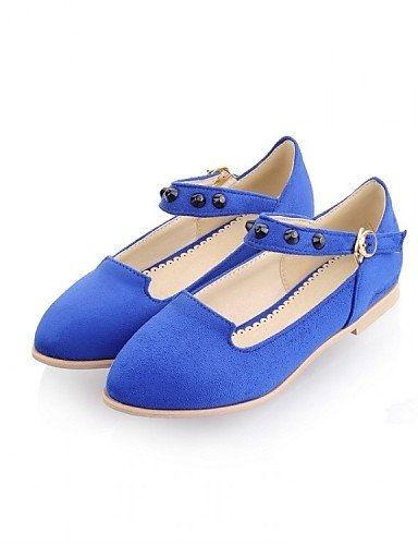 PDX/ Damenschuhe - Ballerinas - Kleid / Lässig - Vlies / Stoff - Flacher Absatz - Mary Jane - Blau / Gelb / Grün / Rosa , blue-us7.5 / eu38 / uk5.5 / cn38 , blue-us7.5 / eu38 / uk5.5 / cn38