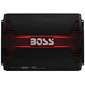 BOSS AUDIO PD4000 Phantom 4000-Watt, 1, 2, 4 Ohm Stable Class D Monoblock Car Amplifier with Remote Subwoofer Control