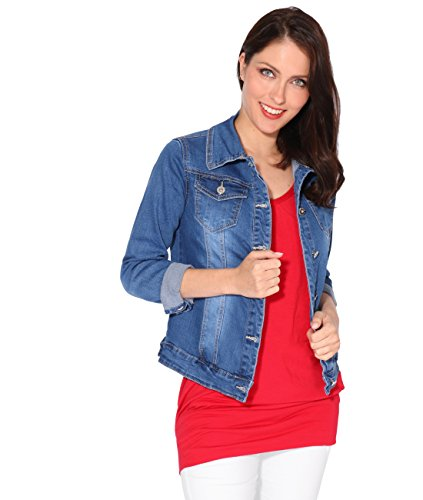 Cintr KRISP Veste Bleu Femme Jean xv1vw4