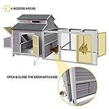 69in Wooden Chicken Coop , Outdoor Large Hen House