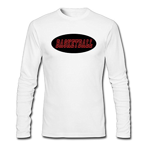 fan products of Nacustom Men's Basketball Long Sleeve T-Shirt XXL White