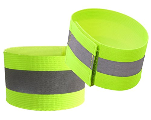 Reflective Bands (2 Bands/1 Pairs) | High Visibility Safety & Running Gear for Jogging, Cycling, Walking | 1 Reflective Strips/tape, Elastic (Reflective Elastic Tape)