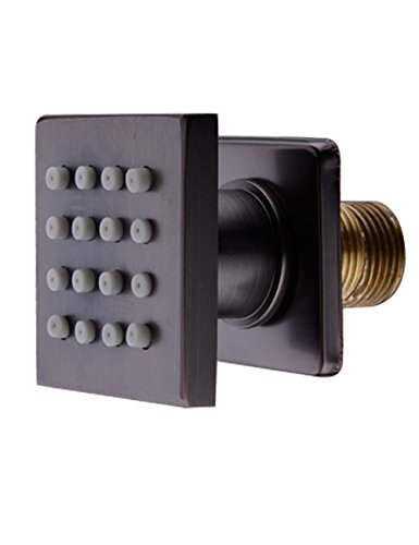 Shower Spa Brass Square Massage Body Jets Spray Body Shower Set, Oil Rubbed Bronze . (1pcs)