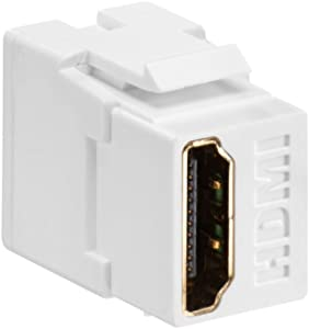 Leviton 40834-W Feed Through, QuickPort HDMI Connector, White