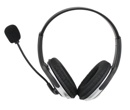 iMicro 100mW Maximum Power Leather Headset with Microphone SP-IM168MV by iMicro (Image #1)