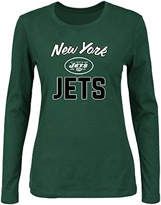 de759ed1 NFL New York Jets Women L/S SCOOP NECK TEE, DK.GREEN, 2X: Amazon.com ...