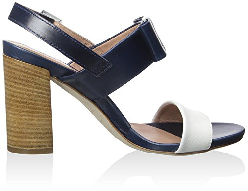 Chaniotakis Dames Sandaal Met Strik Wit / Blauw