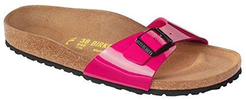 Birkenstock Madrid Womens Lack Pink Birko-Flor Mules 40 EU (9-9.5 R US Women) by Birkenstock