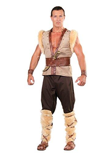 Underwraps Men's Thor, Tan/Brown/Black, One Size (Norse God Costume)