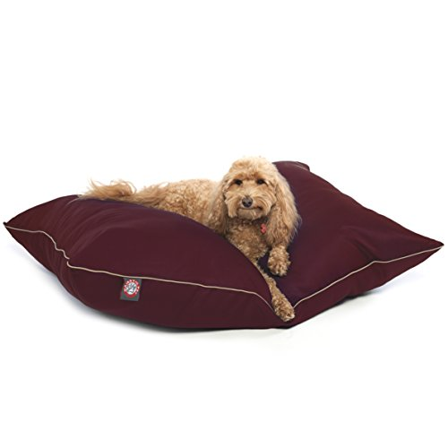 28x35 Burgundy Super Value Pet Dog Bed By Majestic