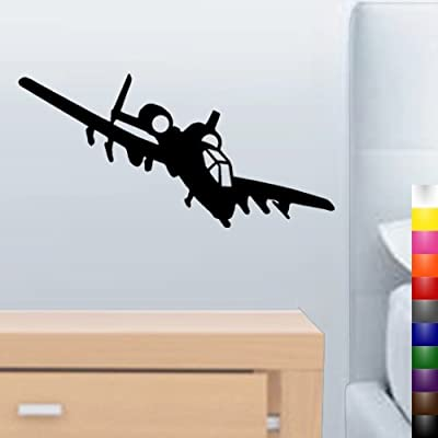 "StikEez 20"" A-10 Warthog Military Plane Fun Army Wall & Window Decal"