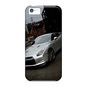 Excellent Hard Cell-phone Cases For Iphone 5c With Custom Colorful Nissan Gtr Image RudyPugh