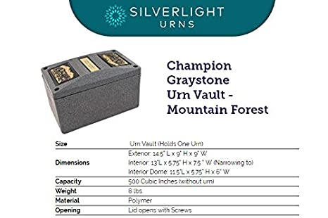 Cross /& Ray Silverlight Urns Champion Graystone Urn Vault