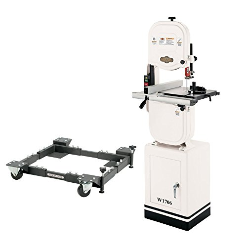 Band Saw Mobile Base - Shop Fox W1706 14-inch Vertical Wood Bandsaw with D2260A Mobile Base